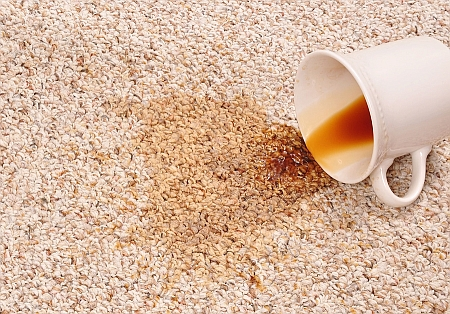spilt coffee stain - carpet cleaner Leeds